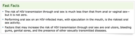 Common Questions: Can I Get HIV From Oral Sex? - Melbourne Rapid HIV Tests | Gay Men's Health & News | Scoop.it