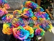 Toko Bunga | Bunga Valentine Bouquet | Bunga Meja: Buket Mawar Pelangi Untuk Hadiah | Toko Bunga | Scoop.it