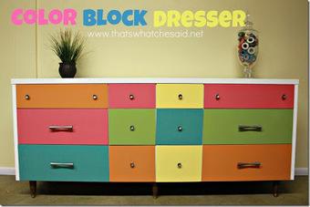 DIY : une commode version color block!   DIY DIY   Scoop.it