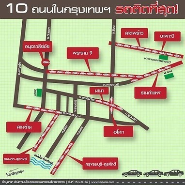 Roads in Bangkok with the Worst Traffic Jams | Thai hotels | Scoop.it