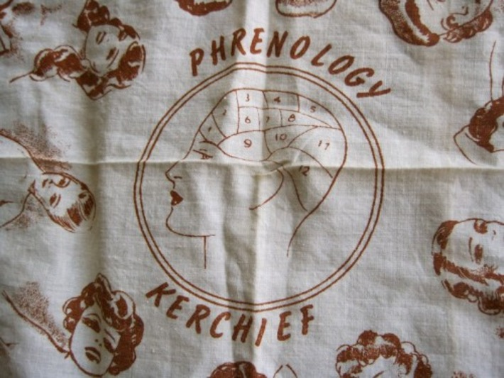 "Vintage ""Phrenology Kerchief"" (Hint: The Bumps You're Reading Aren't On The Head) – Silent Porn Star 