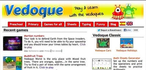 Vedoque: Una colección de juegos gratuitos para niños orientados a la educación   Educación y TICs   Scoop.it