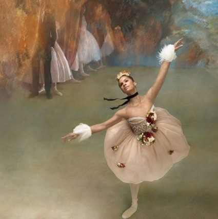 See Misty Copeland Recreate Edgar Degas' Iconic Ballerina Artwork | Mixed American Life | Scoop.it