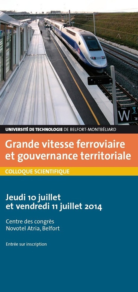 "Colloque Grande vitesse ferroviaire et gouvernance territoriale | ""green business"" 