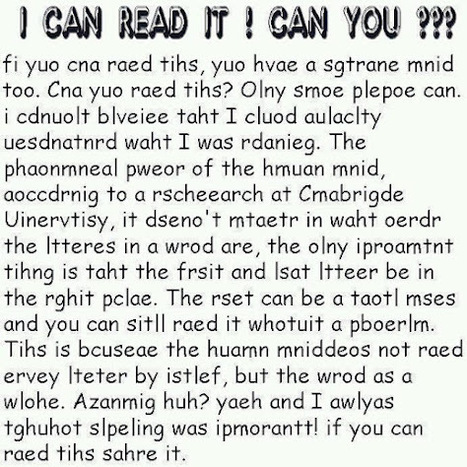I can read it!  Can you? | Gaea Matrix | Scoop.it