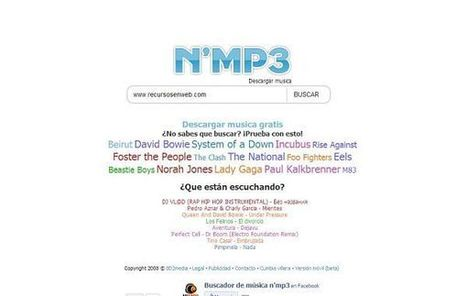 N'mp3, escucha y descarga música totalmente gratis desde tu navegador | Las TIC y la Educación | Scoop.it