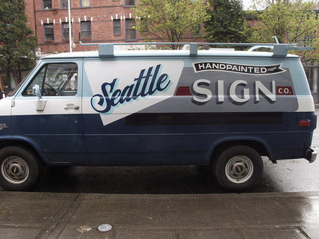 Sean Barton's van on the street | Great type | Scoop.it