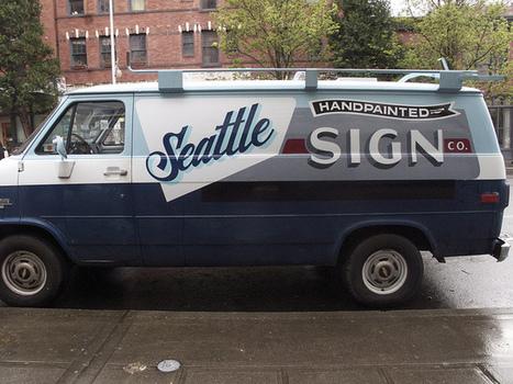 Sean Barton's van on the street | Great type | Scoop.it