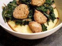 Healthy & Delicious: Swiss Chard and Turkey Sausage Over Polenta | Serious Eats : Recipes | SEAFOOD RECIPES | Scoop.it