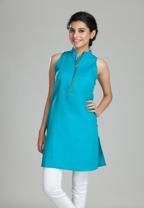 Find Best Discount Deals with Low Price on Designer Basic Zippers Kurta For Womens, Buy Basic Zippers Kurta with Blue Coloured Only Rs-1299 At Best Online Designer Store for ladies in India-itibeyo... | Buy  Women Shirts‎ on itibeyou.com | Scoop.it