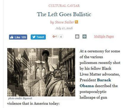 """Obama, Left, And MSM Agree: """"Stop Fearing Crime and Get Back to Fearing Guns!"""" 