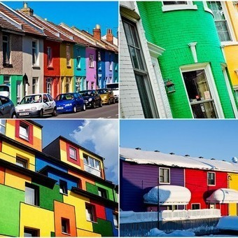 Colorful Houses Around The World | Architecture, technology and urban economy | Scoop.it