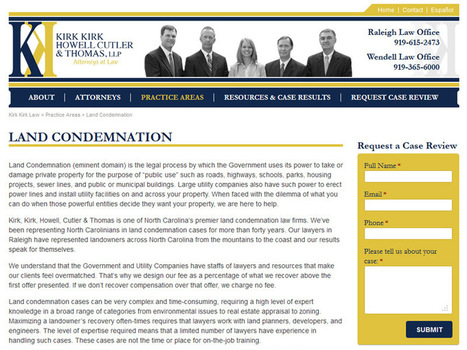 Responsive Web Design & SEO for a Law Firm in Raleigh & Wendell   Web Design   Scoop.it