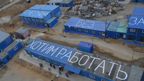 Russian Spaceport Workers Paint Demands Visible from Above | Radius | Scoop.it