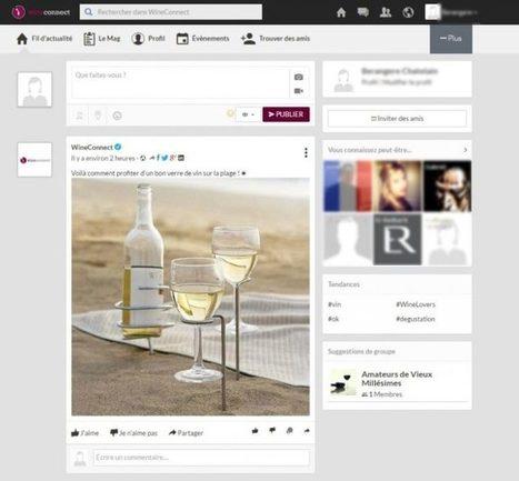 Wine Connect : le premier réseau social pour oenophiles connectés | ATABULA | Startup et innovation | Scoop.it