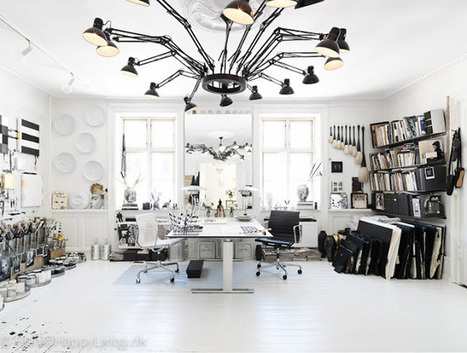 Le studio black & white de Tenka Gammelgaard | décoration & déco | Scoop.it