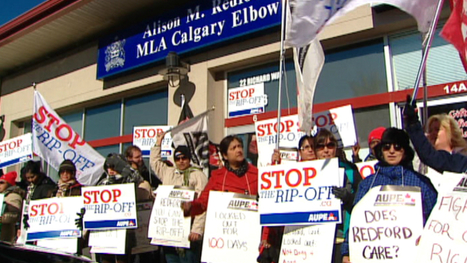Monterey Place workers rally at Alberta premier's office - CBC.ca   What's News in Alberta   Scoop.it