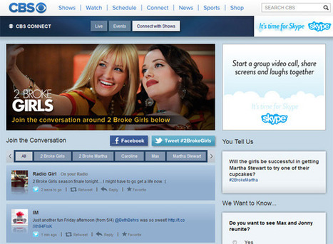 CBS.com launches social TV platform 'CBS Connect' | Multi Platform TV Daily | Scoop.it