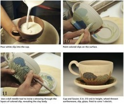 Ceramic Arts Daily – A Renaissance for the Cup and Saucer: A Contemporary Potter Shares the Process for her Wheel Thrown and Slip Decorated Pottery | Ceramics-Pottery | Scoop.it