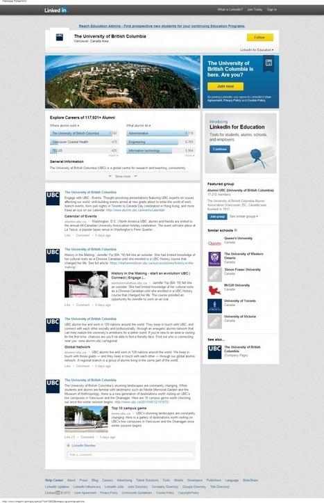 LinkedIn lance les Pages Université pour aider les étudiants soucieux de leur carrière à trouver le bon collège | Vie étudiante | Scoop.it