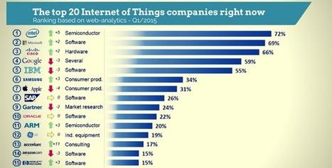 Objet connectés, le classement des 20 premières entreprises - Evous | Web 2.0 cyril | Scoop.it