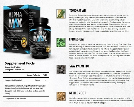 Alpha Max Testosterone Booster Review - Get Your Trial Now | brookeerica121 | Scoop.it