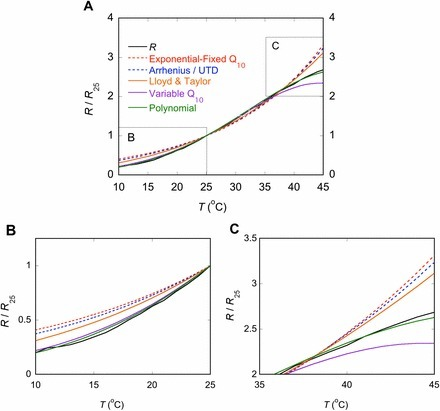 Convergence in the temperature response of leaf respiration across biomes and plant functional types | plant cell genetics | Scoop.it