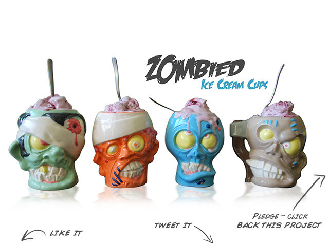 Zombie Head Ice Cream Cups and Beer Mugs!?!
