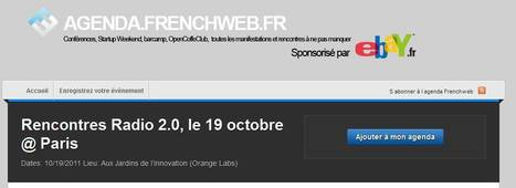 Rencontres Radio 2.0, le 19 octobre @ Paris | Agenda.Frenchweb.fr | Radio 2.0 (En & Fr) | Scoop.it