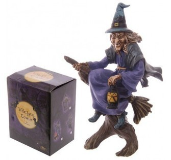 Witch Riding Broom Holding Lantern | Home Gifts | Scoop.it
