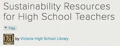 Sustainability Resources for High School Teachers | Better teaching, more learning | Scoop.it