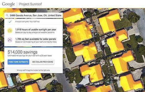 Un nuevo proyecto de google te informará de la cantidad de energía solar que recibe el techo de tu casa en un año | Elearning en la Cooperación Universitaria al Desarrollo | Scoop.it