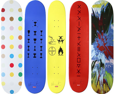 Damien Hirst Artistic Skateboards for the art lovers | carlodalenz | Scoop.it