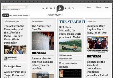 Pinterest for News Is Here: It's Called NewsPeg! | Social Media, etc. | Scoop.it