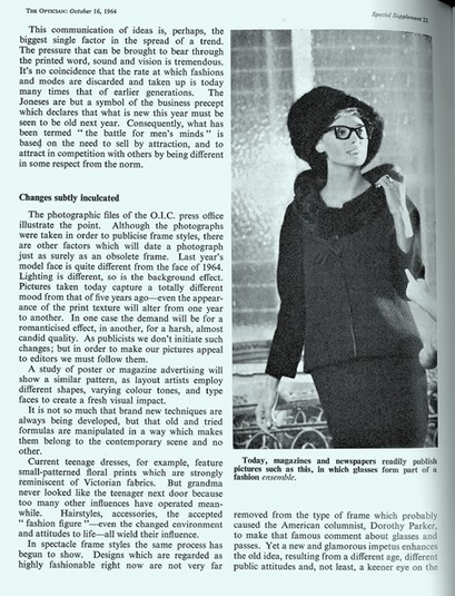 Echoes of the Past: Eyewear and fashion in the 1960s - Optician | All things Sixties | Scoop.it