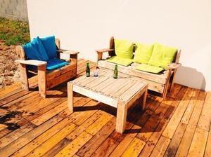 #projet #DIY Création d'une #terrasse  et d'un #salon de #jardin en #palette | Best of coin des bricoleurs | Scoop.it