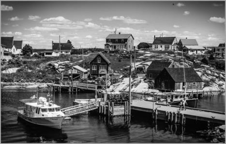 Cycroft Photoblog: B&W Photo: Fishing Village | Nova Scotia Fishing | Scoop.it