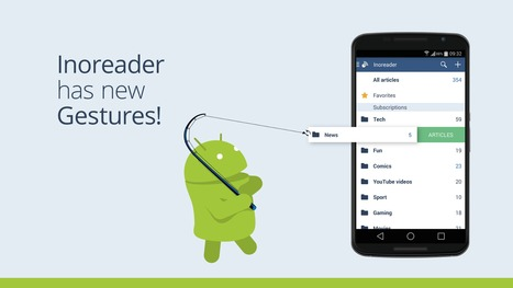 Inoreader 3.0 for Android brings gestures, integrations, better sharing and more... | RSS Circus : veille stratégique, intelligence économique, curation, publication, Web 2.0 | Scoop.it