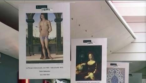 Clic France / Du 23 au 28 février 2015, le Louvre-Lens a exposé ses œuvres d'art en grand format dans une grande surface   Clic France   Scoop.it