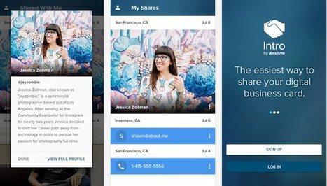 About.me lanza Intro, aplicación android para crear nuestra tarjeta de visita virtual   Social Media   Scoop.it