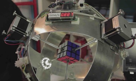 This Arduino-powered Robot Just Solved A Rubik's Cube In Less Than 1 Second - fossBytes | Raspberry Pi | Scoop.it