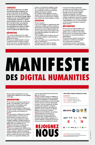 L'affiche du Manifeste des Digital Humanities | ThatCamp Paris | History, Geography and new technologies | Scoop.it