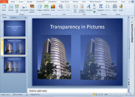 How to Add Transparency to a Picture in PowerPoint 2010 | Education Library and More | Scoop.it