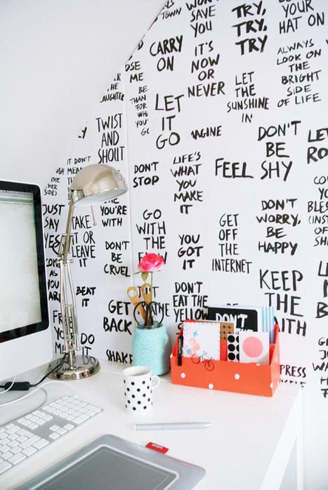 DIY | Des paroles de chansons sur les murs du bureau | décoration & déco | Scoop.it