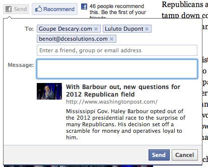 Facebook : partagez du contenu Web sur les groupes avec Send | Descary.com | Time to Learn | Scoop.it
