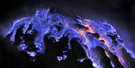 PHOTOS: This Volcano's Lava Glows Blue | Work accidents | Scoop.it