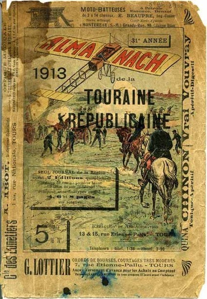 Il y a 100 ans paraissait l'almanach 1913 de la Touraine Républicaine | Rhit Genealogie | Scoop.it