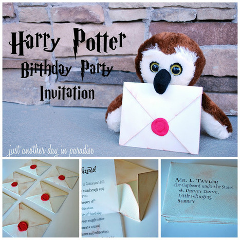 Just Another Day in Paradise: Harry Potter Party Invites Tutorial | Harry Potter | Scoop.it