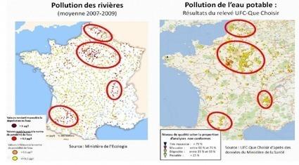 carte-de-france-de-la-pollution-de-l-eau-1333354703.png (500x277 pixels) | svt pollution de l'eau et risque pour la santé mars 2013 | Scoop.it