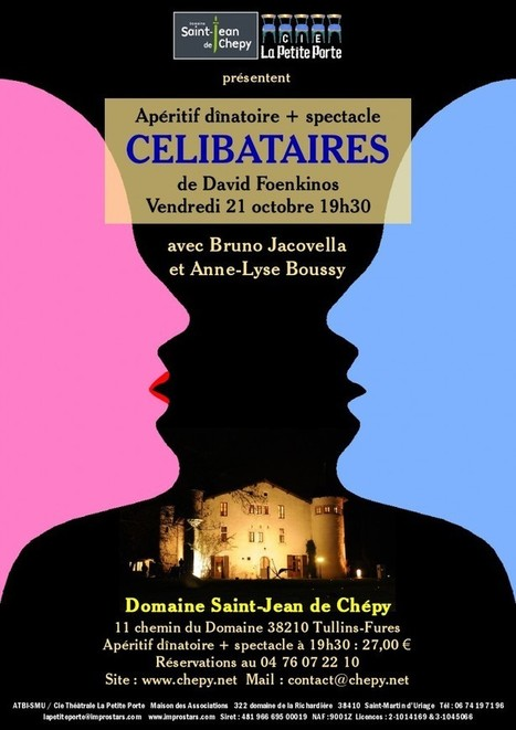 Spectacle de théâtre le 21 octobre | Actualites Chepy | DOMAINE ST JEAN DE CHEPY | Scoop.it